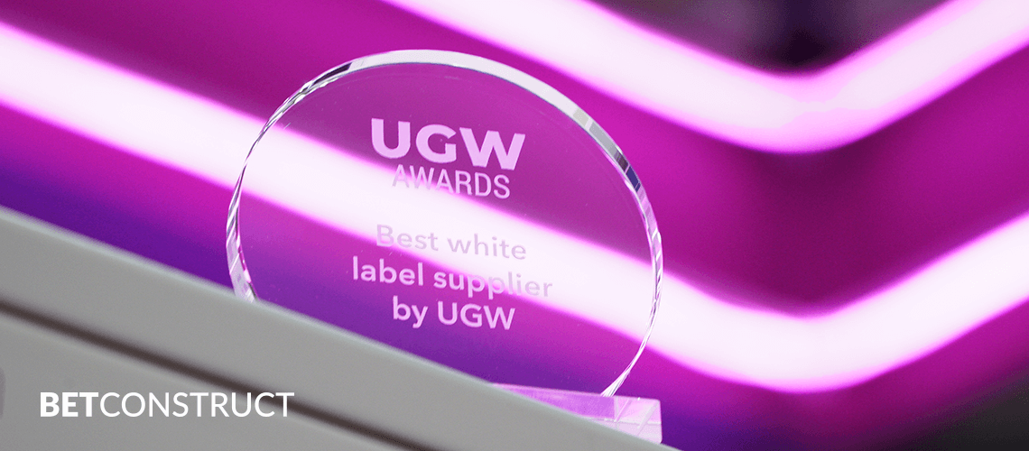 BetConstruct is the Best White Label Supplier at UGW Awards