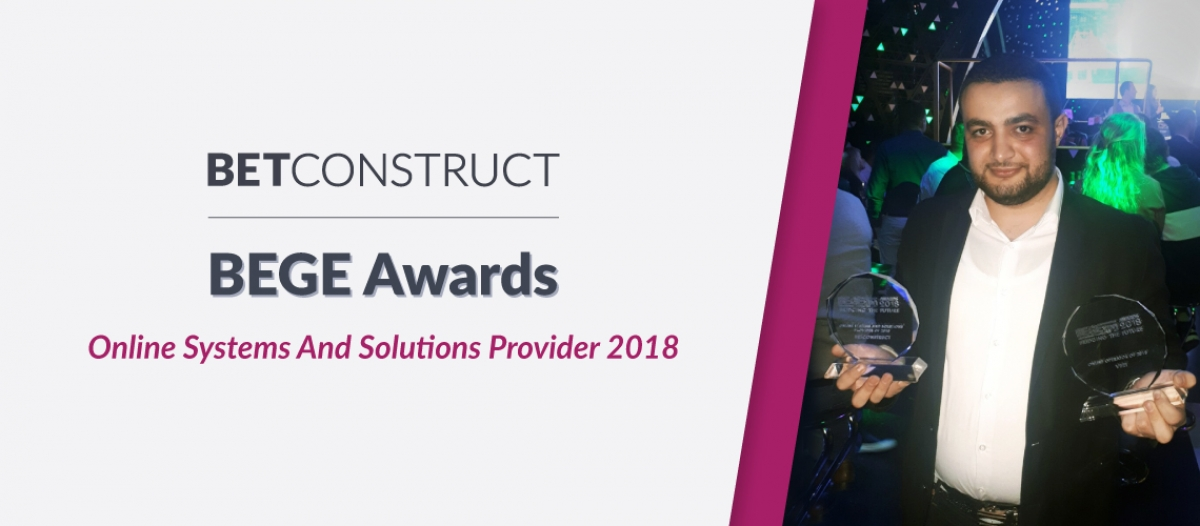BetConstruct Takes Online Systems & Solutions Award at BEGE
