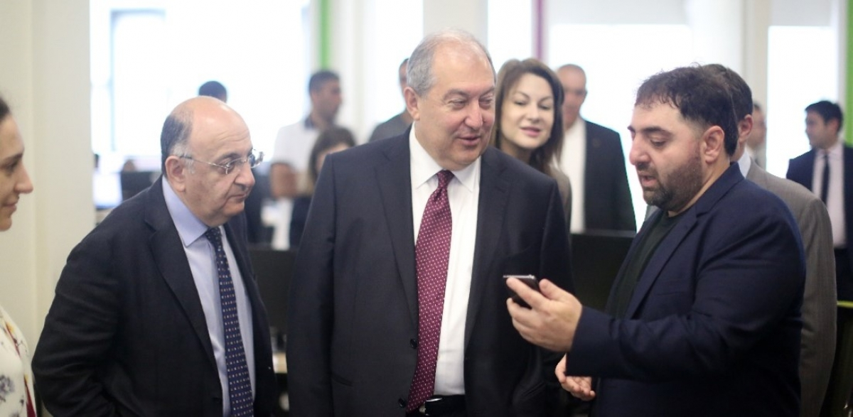 The President of Armenia Visits SoftConstruct Office