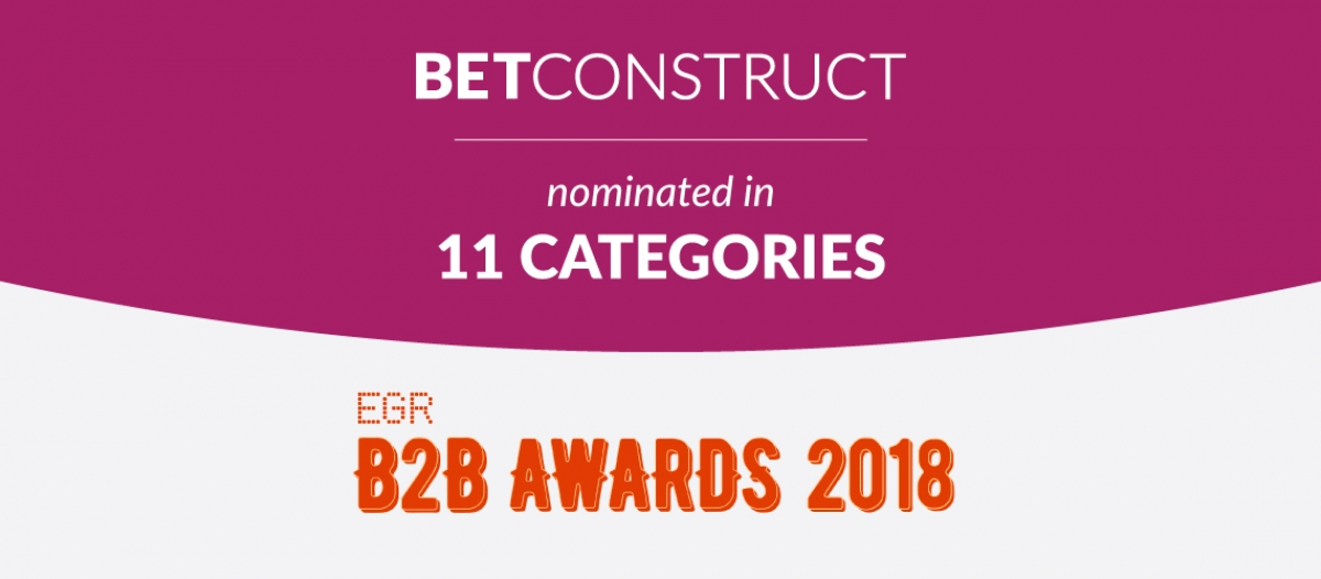 BetConstruct Is Shortlisted at EGR B2B Awards 2018