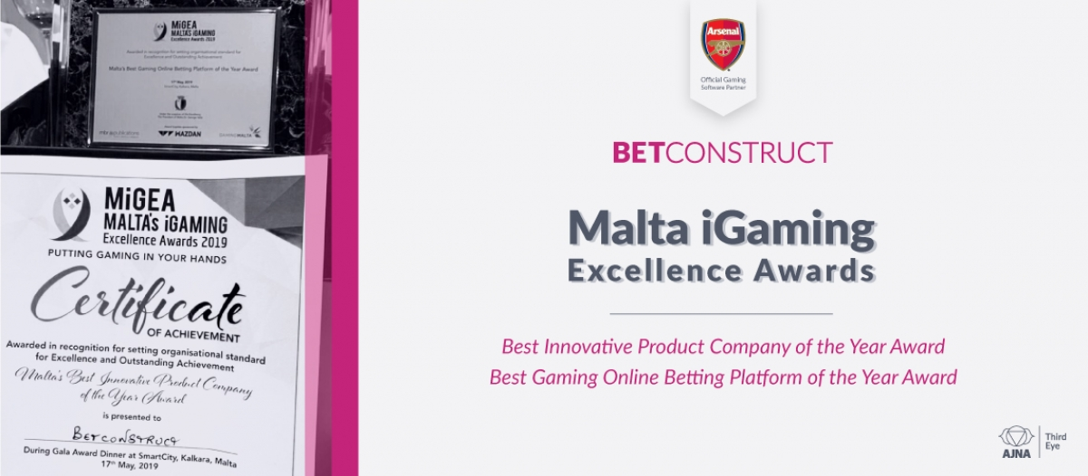 BetConstruct Wins Two Awards at MiGEA '19