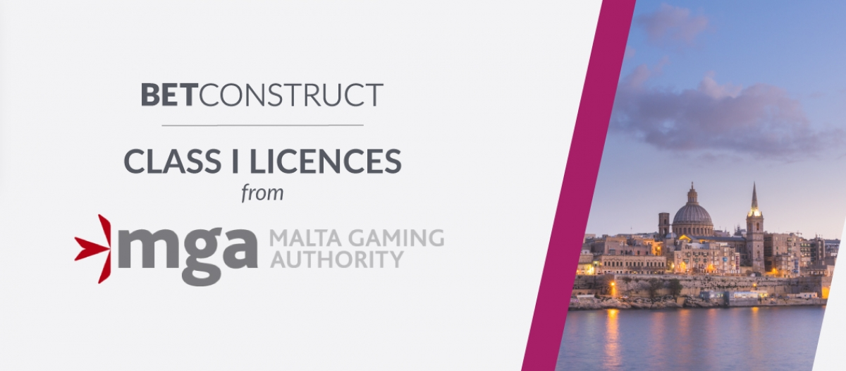 BetConstruct Obtained Two Class I Licences from MGA