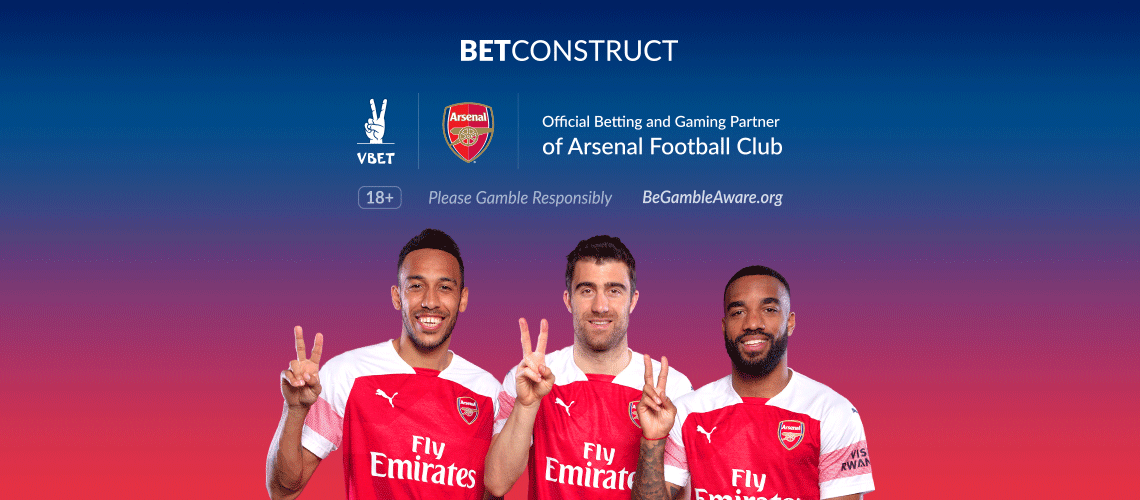BetConstruct Operator VBET Joins Arsenal as Official Partner