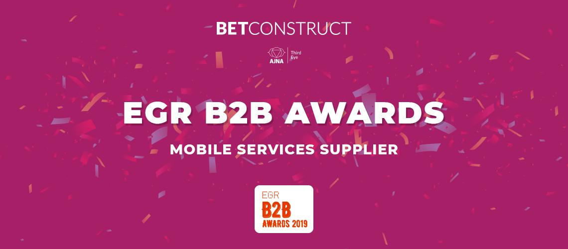 BetConstruct Wins at EGR Awards 2019